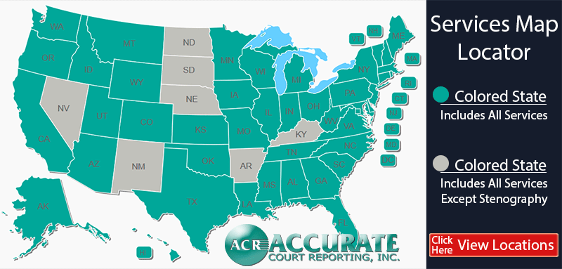 court reporters near me - states we service