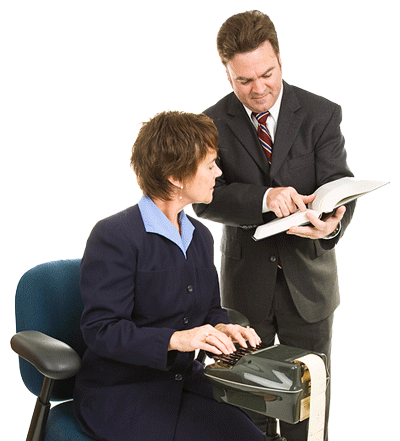 lawyer with stenographers